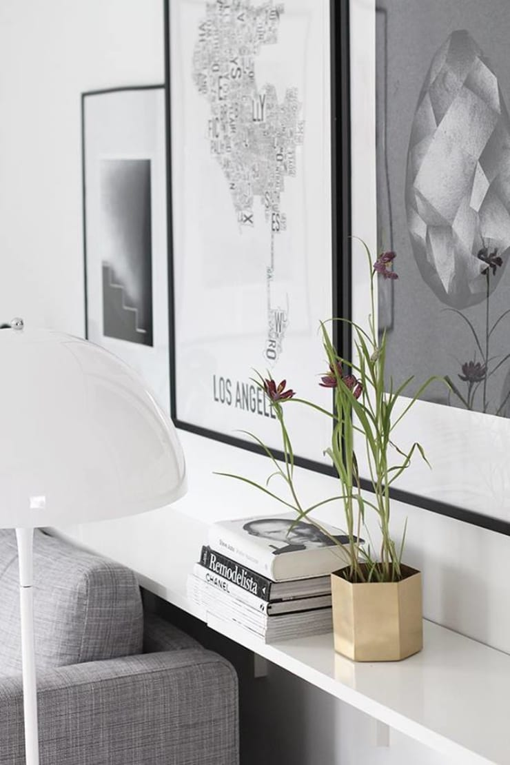 Styling with White:  Living room by Spacio Collections