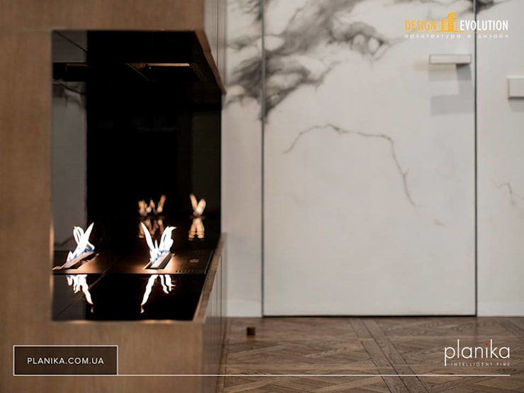 Planika Fireplace: modern Living room by S. T. Unicom Pvt. Ltd.