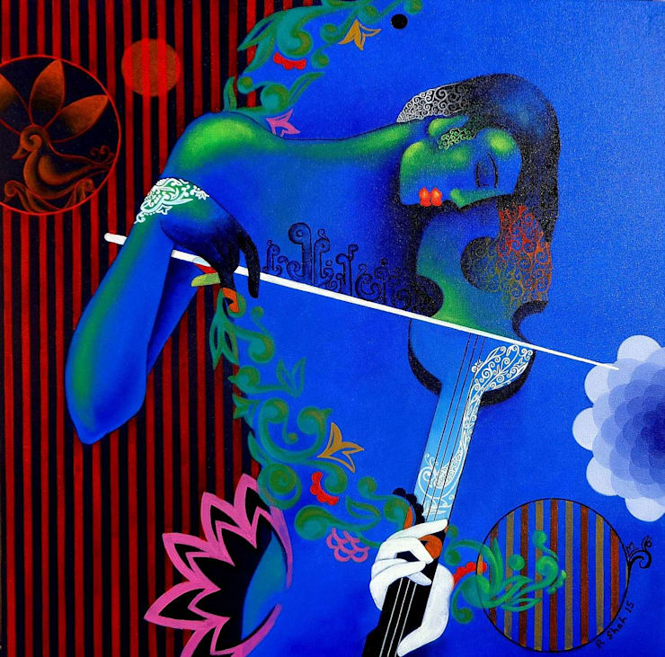 Playful Melody:  Artwork by Indian Art Ideas