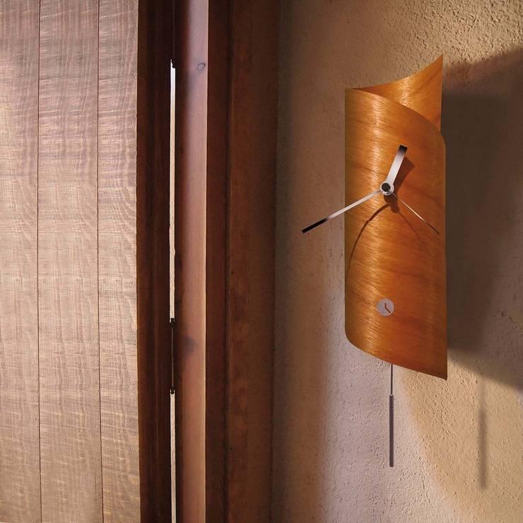 Tothora Wallsurf Pendulum Clock - Cedar: modern  by Just For Clocks,Modern Wood Wood effect