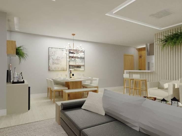Sala de jantar Salas de estar modernas por Bruna Ferraresi Moderno