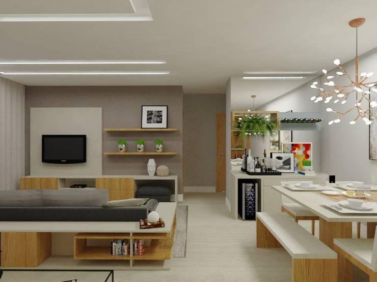 Salas Integradas Salas de jantar modernas por Bruna Ferraresi Moderno