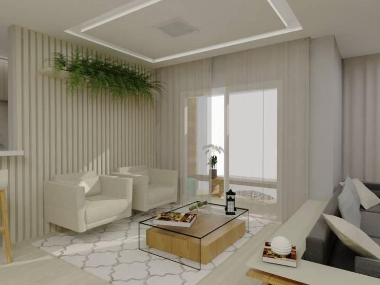 Sala de Estar e Varanda Salas de estar modernas por Bruna Ferraresi Moderno