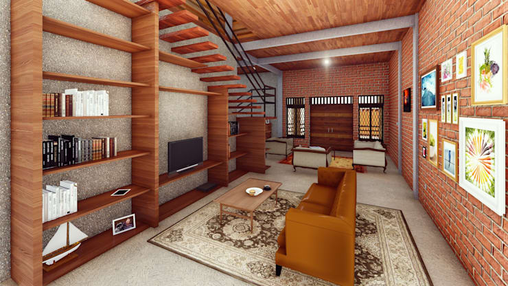 RH House:  Ruang Keluarga by Pr+ Architect