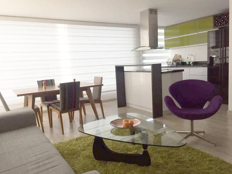 Apartamento en Bogotá Calle 100: Salas de estilo  por MBdesign