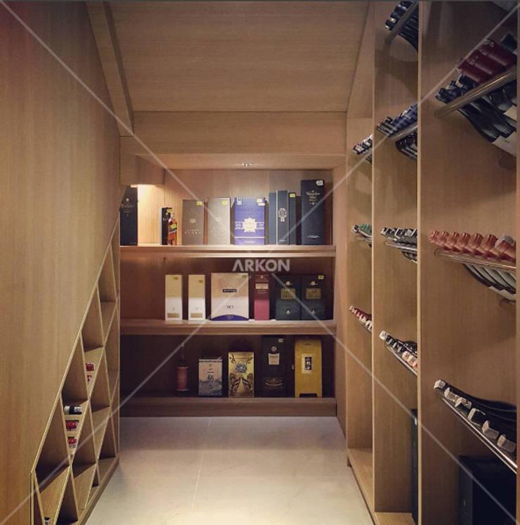 Emerlad Mansion, Lippo Cikarang Bekasi:  Wine cellar by ARKON