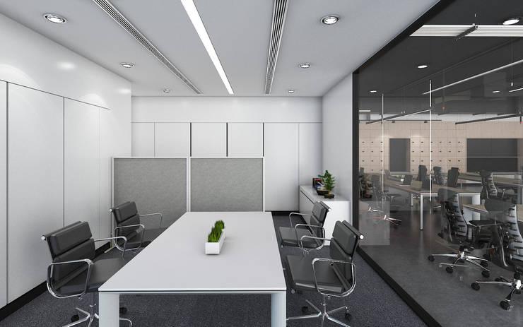 ห้องฝ่ายบัญชีและการเงิน:  อาคารสำนักงาน by DD Double Design
