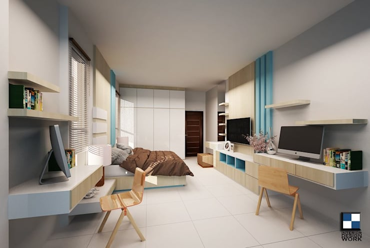 ออกแบบตกแต่งภายใน บ้านพักอาศัยสองชั้น:   by interir design work