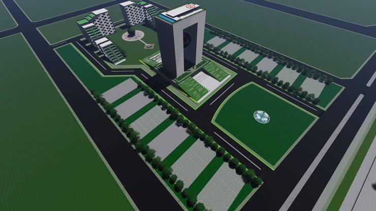 Architecture visualisation for APNRT Icon building top view:   by Srushti VIZ
