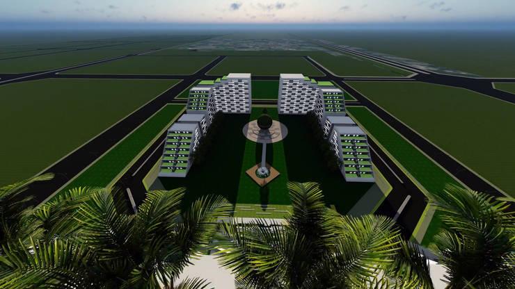 Architecture visualisation for APNRT Icon building :   by Srushti VIZ