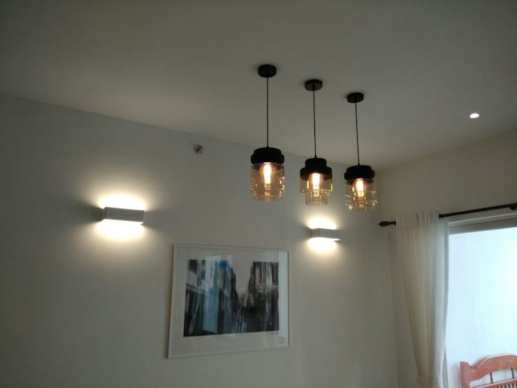 Lighting Control & AC Control:  Dining room by Alfaone Technologies Pvt Ltd,Modern