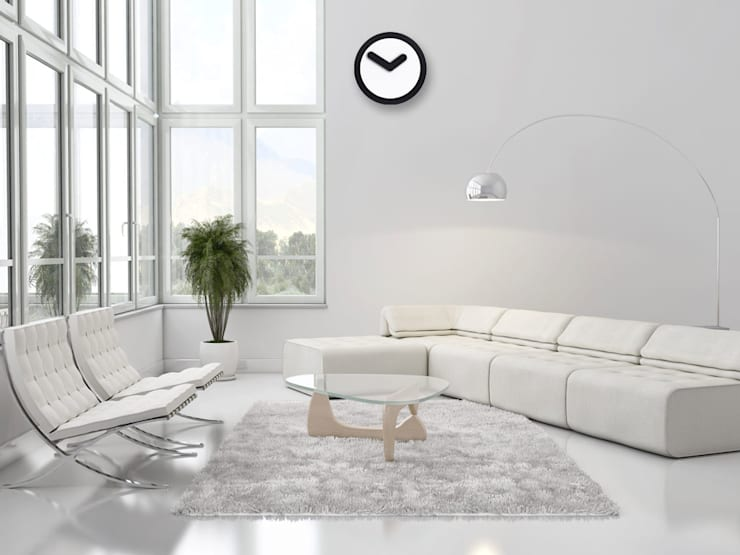 Nextime Focus Black:  Living room by Just For Clocks