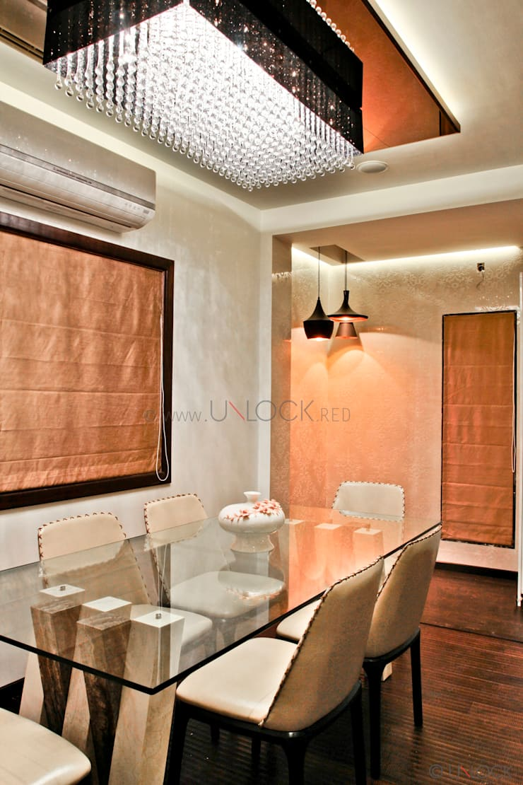 Dining in style !:  Dining room by UNLOCK ©™,Modern Marble