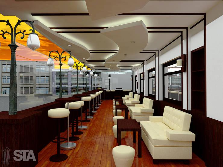 Restaurante Vivaldi: Restaurantes de estilo  por Soluciones Técnicas y de Arquitectura ,