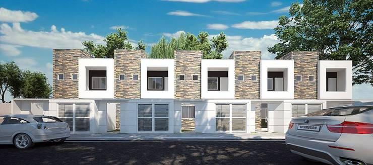 Fachada Principal: Casas geminadas  por LK Studio Arquitetura