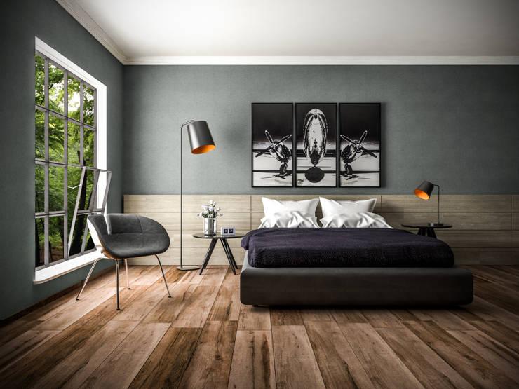 Architekturvisualisierung Innenraumvisualisierung: Fotorealistische Visualisierung einer Wohnzimmerszene:   von Architektur-Visualisierung.Studio