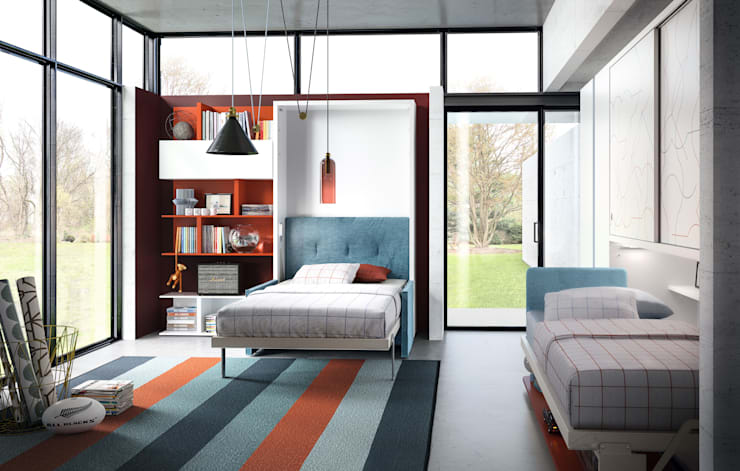 Altea 120 Sofa + Kali Ponte Board 2200:  臥室 by Hefeng furniture