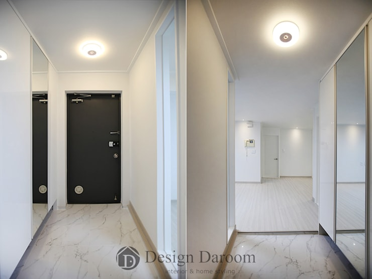 일산 성원3차 아파트 현관: Design Daroom 디자인다룸의  복도 & 현관,