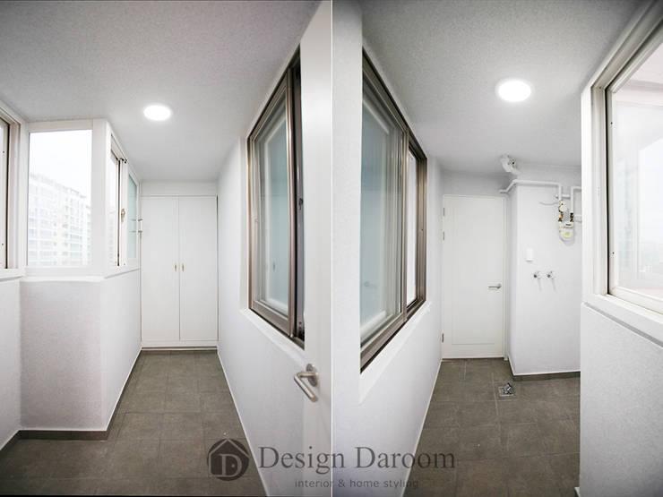 일산 성원3차 아파트 다용도실: Design Daroom 디자인다룸의  베란다,