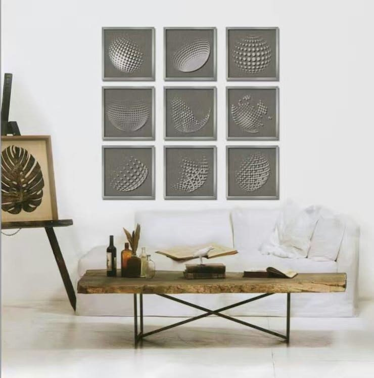 Wall Art Inspiration : modern  by Spacio Collections,Modern Textile Amber/Gold