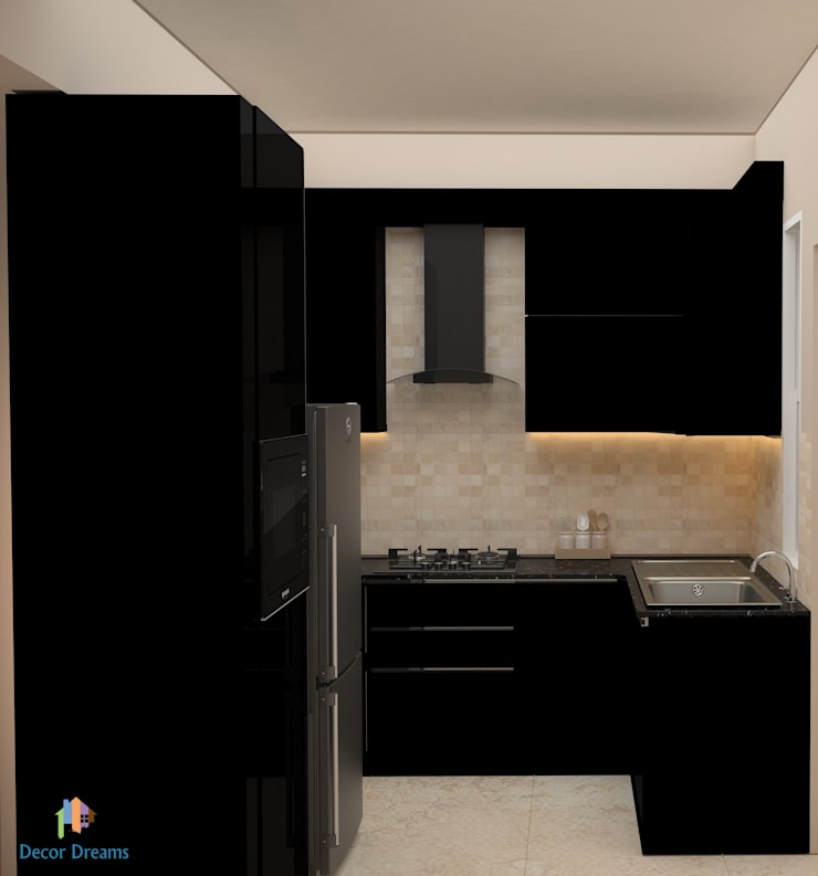 DLF Woodland Heights, 3 BHK—Mrs. Darakshan:  Kitchen by DECOR DREAMS,