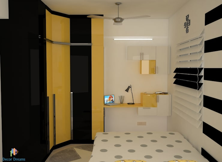DLF Woodland Heights, 3 BHK—Mrs. Darakshan:  Bedroom by DECOR DREAMS,