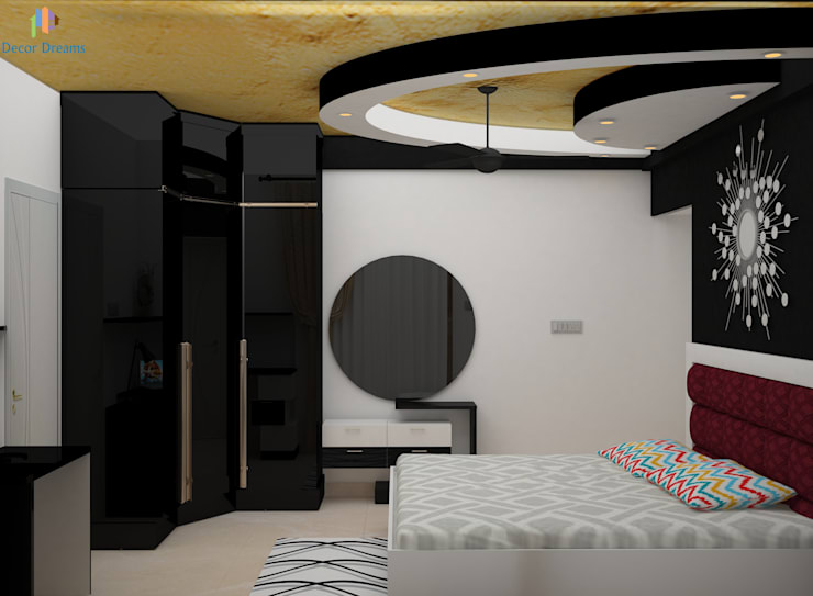 DLF Woodland Heights, 3 BHK - Mrs. Darakshan: modern Bedroom by DECOR DREAMS