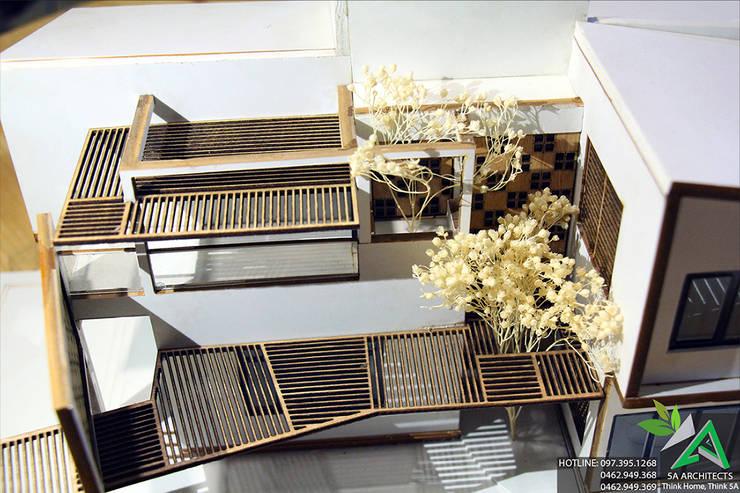 Biệt thự Hiện đại:  Biệt thự by CÔNG TY CỔ PHẦN KIẾN TRÚC 5A
