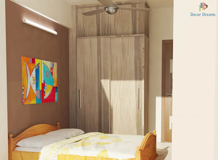 TOE TREE APPARTMENTS: modern Bedroom by DECOR DREAMS