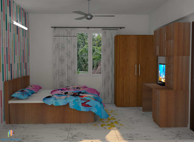 TOE TREE APPARTMENTS:  Bedroom by DECOR DREAMS