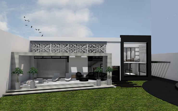 """Residencial """"Nieto"""": Casas ecológicas de estilo  por Estudio AL - Arquitectura-Diseño Interior"""