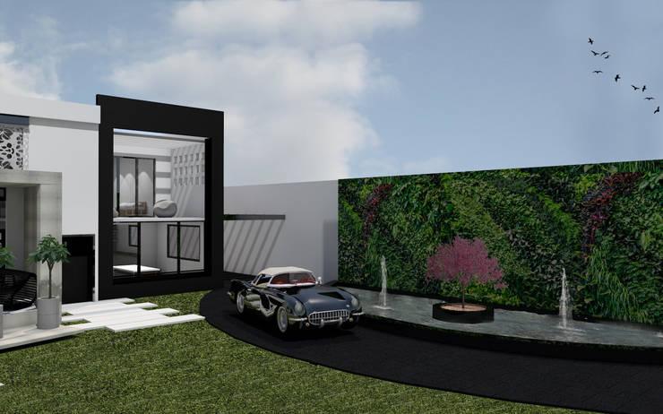 """Residencial """"Nieto"""": Casas de estilo  por Estudio AL - Arquitectura-Diseño Interior"""