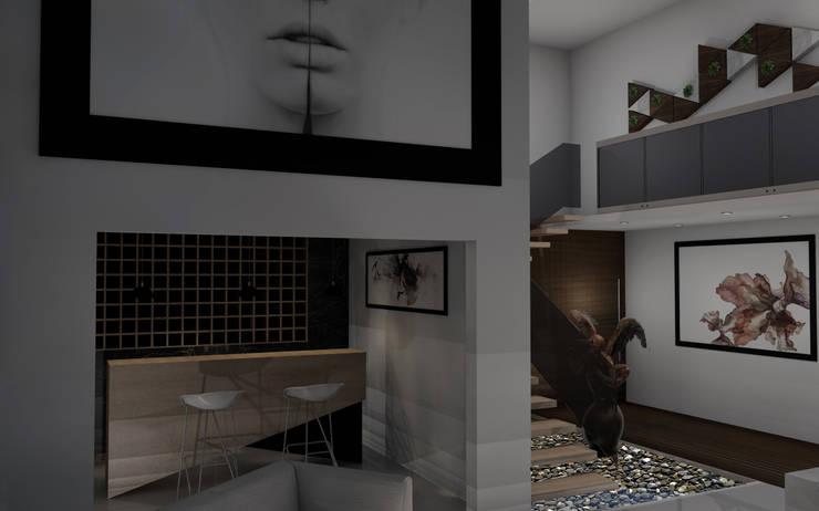 """Residencial """"Nieto"""":  de estilo  por Estudio AL - Arquitectura-Diseño Interior"""