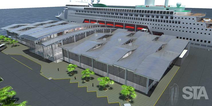Diseño de varios proyectos: Espacios comerciales de estilo  por Soluciones Técnicas y de Arquitectura ,