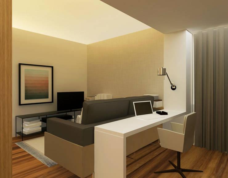 Oficinas de estilo moderno de Rita Glória interior design Moderno
