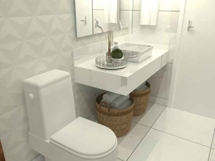Banheiro: Banheiros  por Garnet Design de Interiores