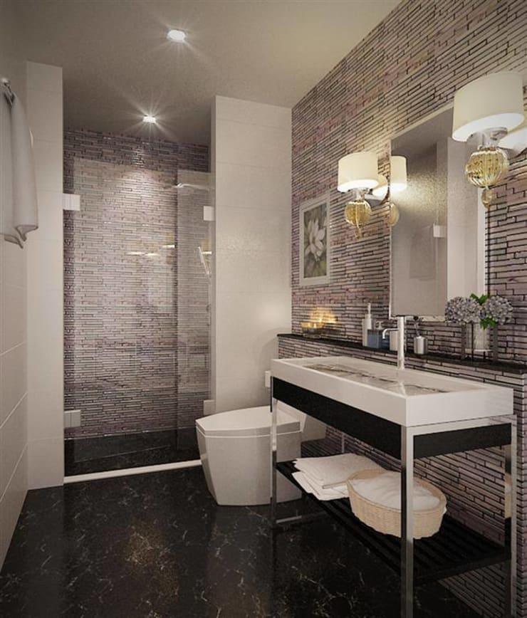 Sharon-Shaoho Bathroom Renovation 2013:   by LEE Interior Design & Built-in