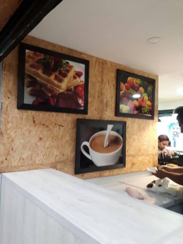 diseño comercial : Locales gastronómicos de estilo  por Naromi  Design