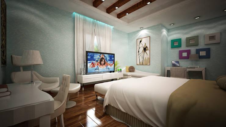 Villa Fouad & Yosra:  Bedroom by Rêny