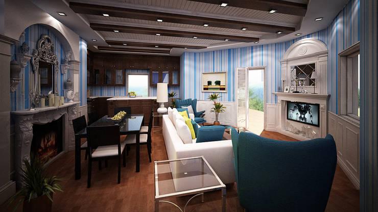 Villa Fouad & Yosra:  Living room by Rêny