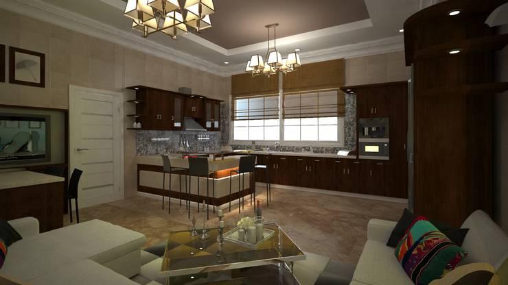 Villa Mrs. Nabila :  Living room by Rêny
