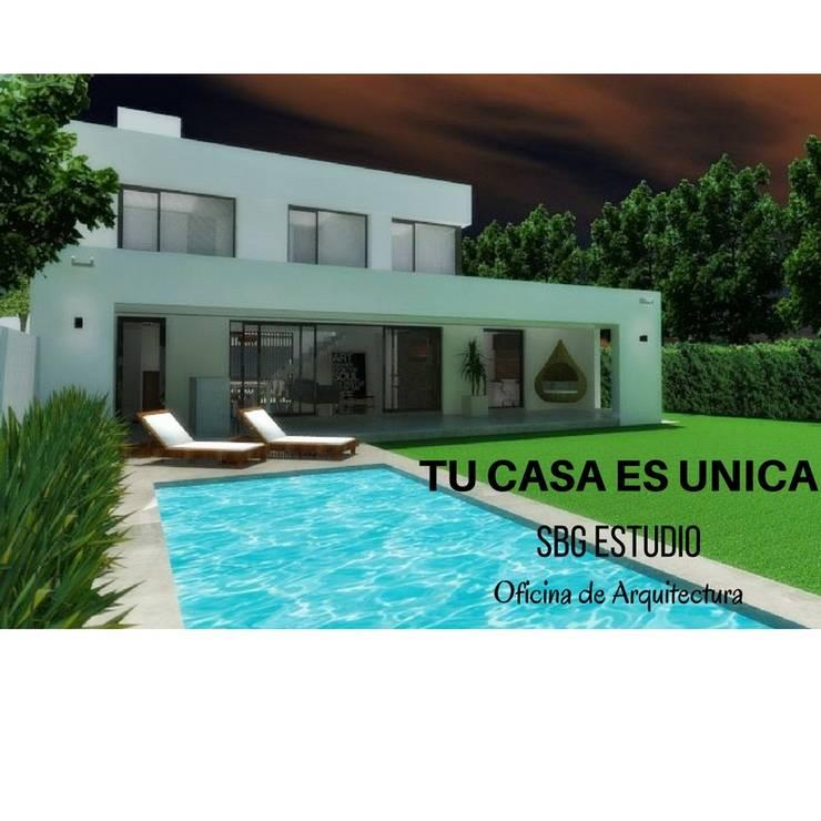 Vivienda unifamiliar: Casas unifamiliares de estilo  por SBG Estudio ,