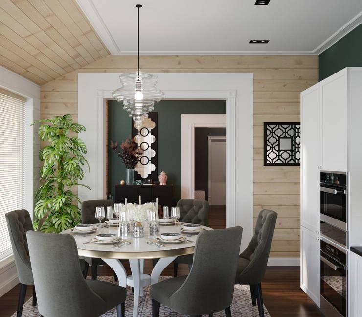 Дом из клееного бруса в Репино: Кухни в . Автор – Wide Design Group