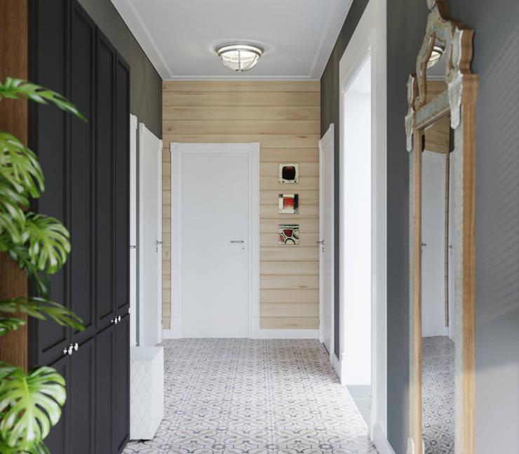 Дом из клееного бруса в Репино: Коридор и прихожая в . Автор – Wide Design Group
