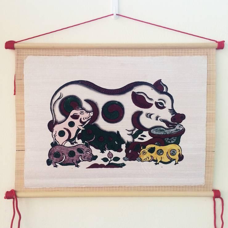 Dan lon am duong:   by Tranh Đông Hồ