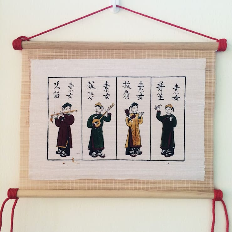 Tu quy to nu:   by Tranh Đông Hồ