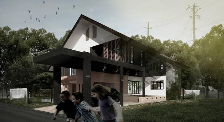 บ้าน ผศ.เมธี มหาสารคาม:  บ้านและที่อยู่อาศัย by HEAD DESIGN