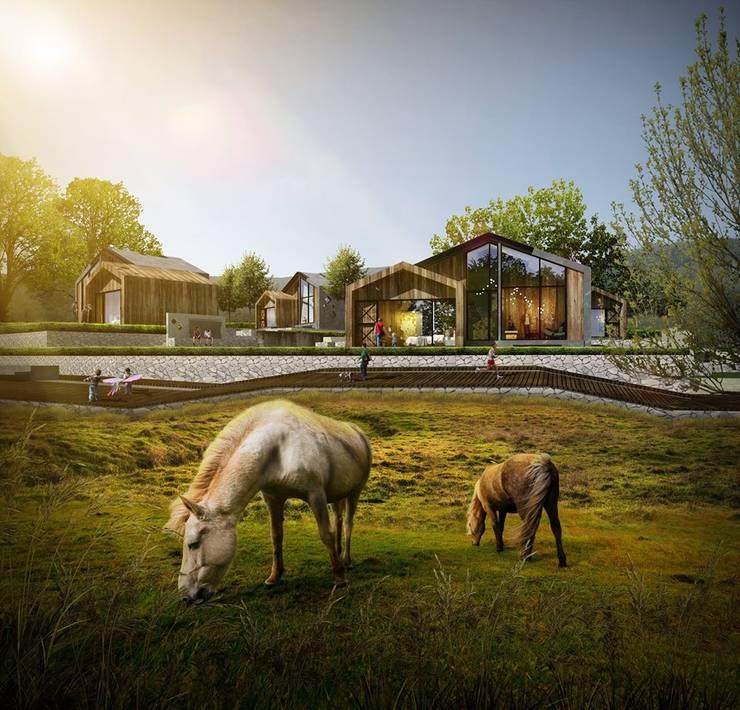 New Villa , Mountain View:  บ้านและที่อยู่อาศัย by HEAD DESIGN
