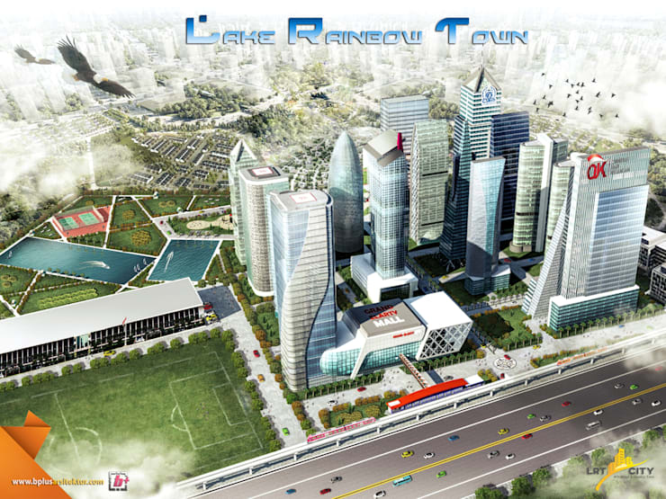 Masterplan LRT city - Gatot subroto Road - Jakarta 2:   by bplusarsitektur
