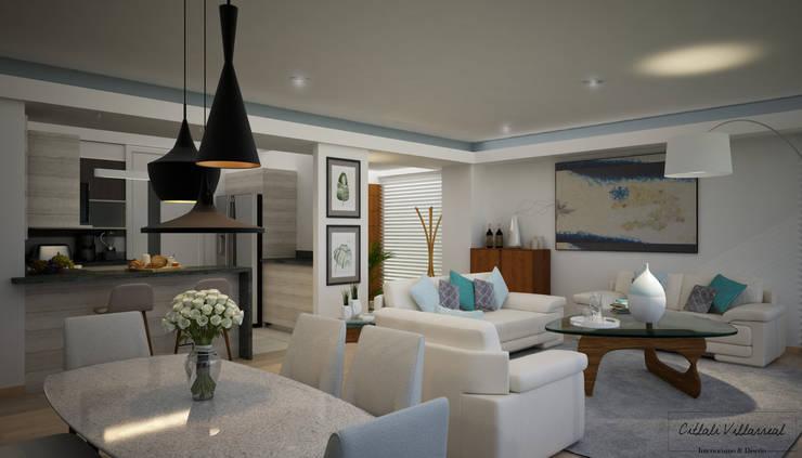Comedores de estilo moderno por Citlali Villarreal Interiorismo & Diseño